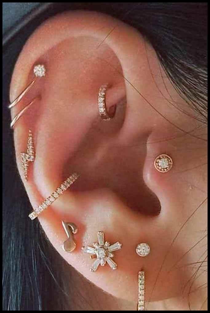 1a594777f Multiple Ear Piercings | Lady Trendy